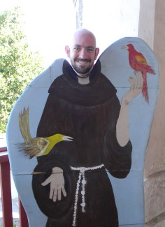 The Author at the Santa Barbara Mission in June 2011